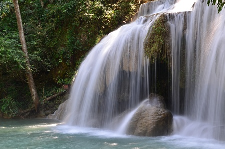 Watefall at Erawan national park photo