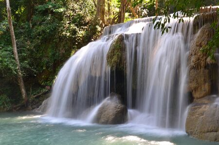 Watefall at Erawan national park Stock Photo - 17270502