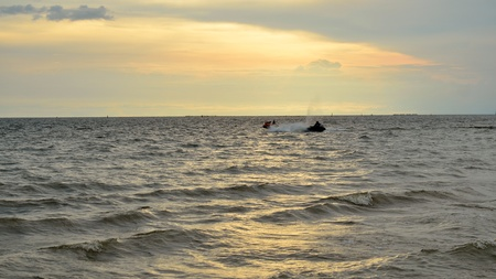 Beautiful sunset on the beach in Thailand Stock Photo - 17116463