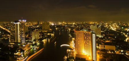 Modern city at night, Thailand Stock Photo - 17199182