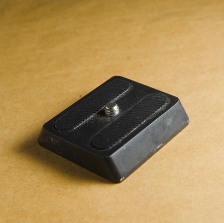 mounting: camera mounting plate Stock Photo