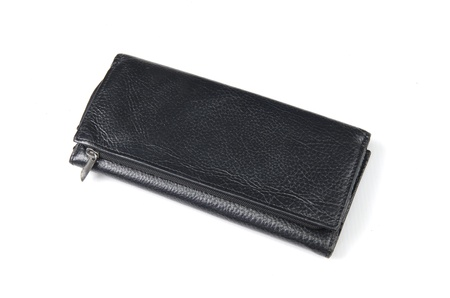 gents: Black Gents Wallet Stock Photo