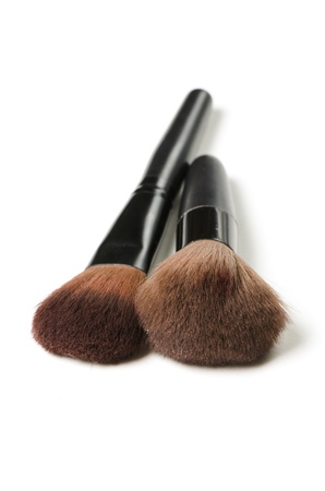 Professional makeup brush isolated on a white background photo