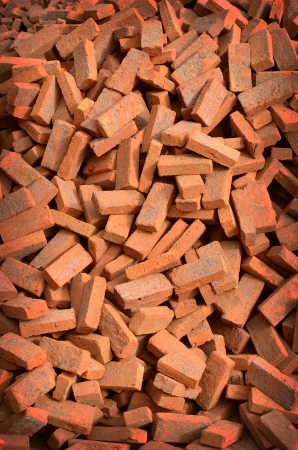 group of bricks square construction materials Stock Photo - 17980171