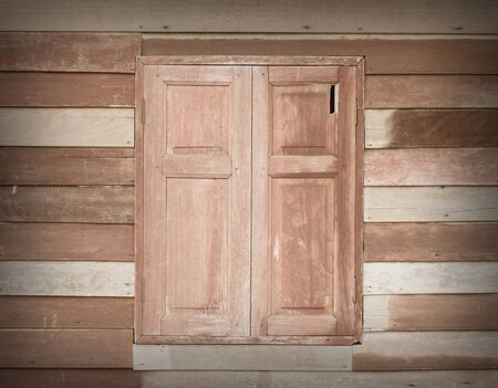 Closed old wood window texture background photo