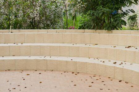 Stair concrete in garden photo