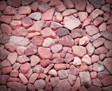 texture of red stone wall photo