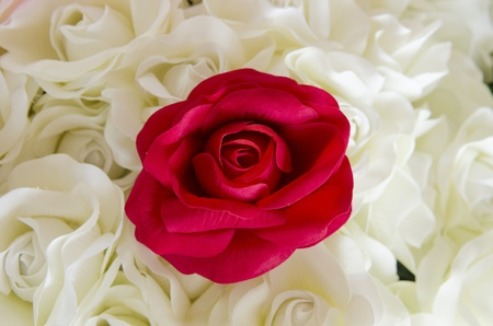 Artificial rose flowers mixed bouquet photo