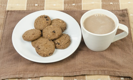 Coffee and Chocolate chips cookies photo