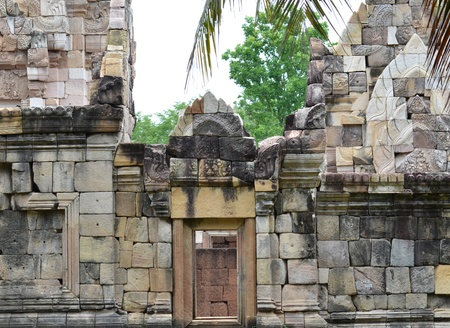 northeast: old stone castle in northeast of thailand