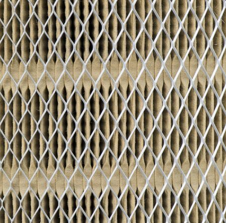 close up of Used and dirty automobile air filter photo