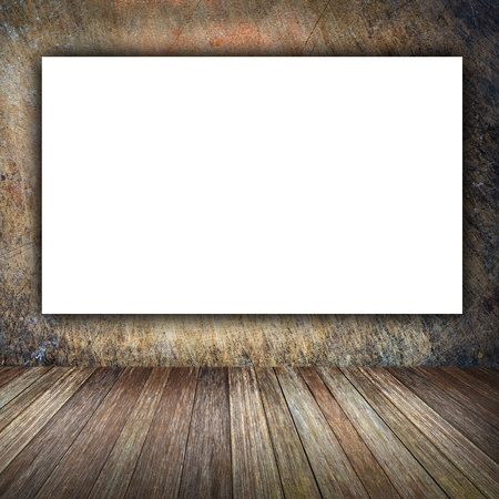 Large billboard with blank white paper ready for text. photo