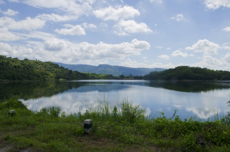 Lake in the mountains of Thailand photo