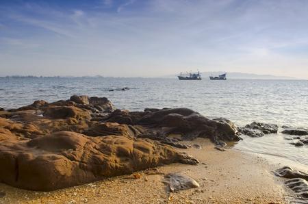 Hua- Hin beach, is famous, Thailand Stock Photo - 19593593