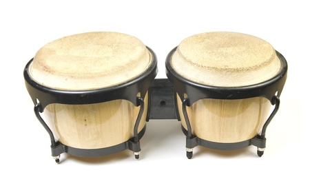 bongos on a white background photo
