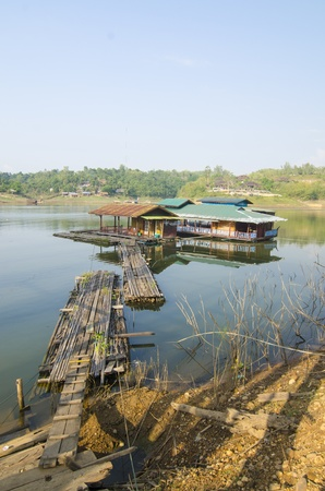 floating village in Kanchanaburi Province, Thailand photo