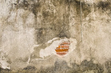 cracked concrete vintage brick wall background photo