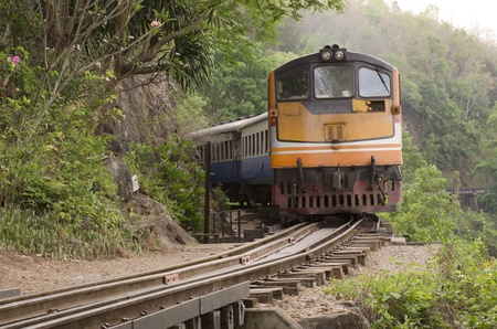 train on the railway, Thailand photo