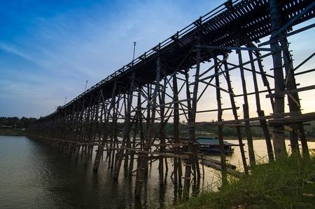 longest: Longest wooden bridge in Thailand, at Sangkhlaburi, Kanchanaburi