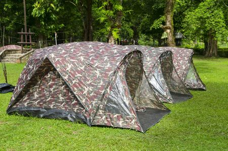 Tent camping in a campground in Thailand national park Stock Photo - 21676614