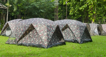Tent camping in a campground in Thailand national park Stock Photo - 22070321