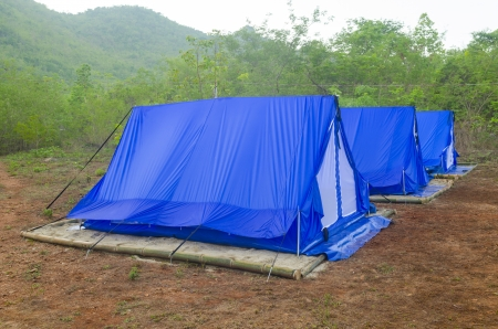 tent Camping site with nature Stock Photo