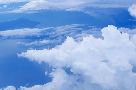 cloud drift: Beautiful sky and clouds. View from the plane.