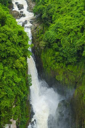 Beautiful Unesco Haew Narok Waterfall in Khao Yai Stock Photo