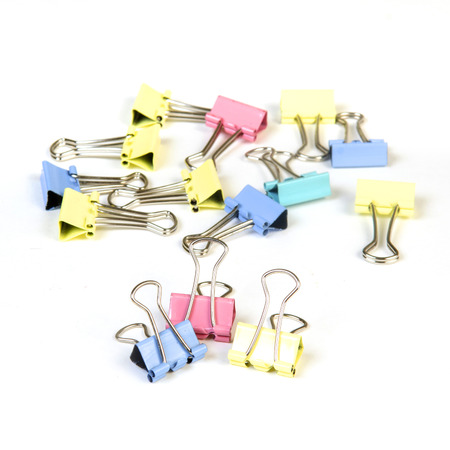 set of Coloured Clips photo