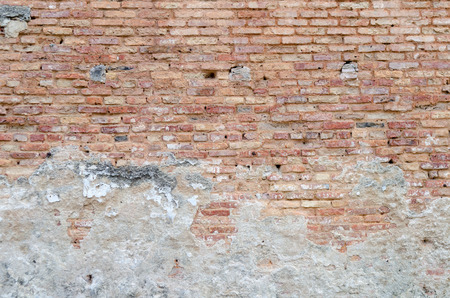 old red brick wall texture background photo
