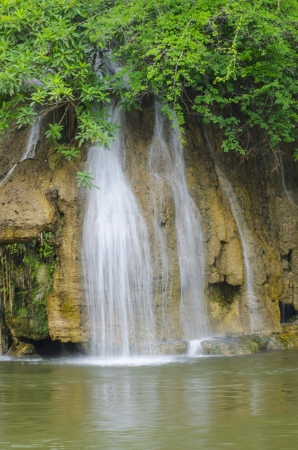 Sai Yok Yai waterfalls at Sai Yok National Park Kanchanaburi Thailand. photo