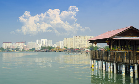 Chew Jetty Heritage Site in Penang Malaysia