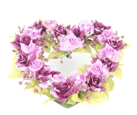 picture set of colorful flowers for your loved ones on Valentines Day. photo