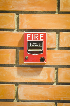 Fire alarm switch for the security system in the building. photo