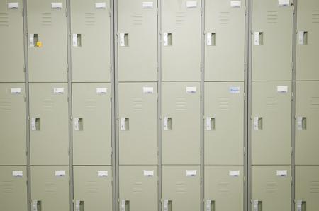 locker: Lockers cabinets in a locker room  Stock Photo