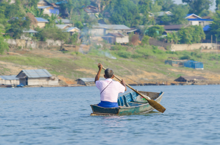 The villagers were ferried to local fishermen. photo