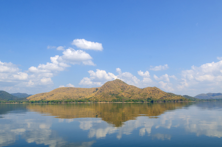 tierra: Lake, mountains and clouds blue sky, Thailand