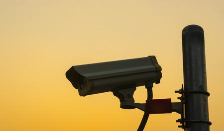 Security Camera CCTV wit sky sunset photo