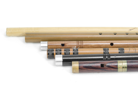 set of Thai Flutes are made from wood, Thailand Stock Photo - 26412038