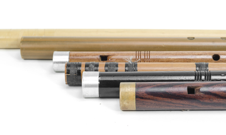 set of Thai Flutes are made from wood, Thailand Stock Photo - 26495090