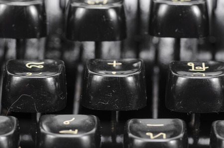 Vintage typewriter keys photo