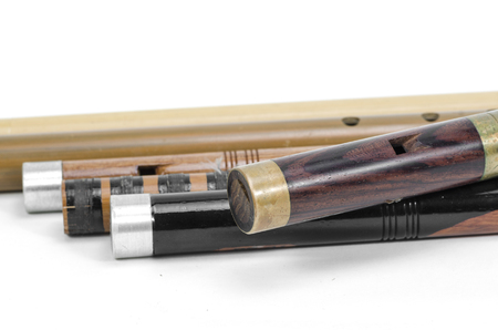set of Thai Flutes are made from wood, Thailand Stock Photo - 26530499