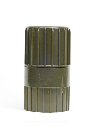 tube top: Cylindrical shape plastic container on white background