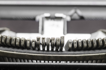 Close up of the letters on an old typewriter. photo