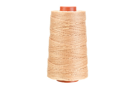 Yarn thread for crafts isolated on white with clipping path photo