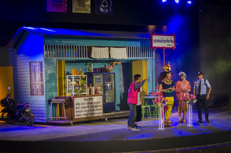 Cicada Markets Hua Hin, THAILAND - April 26: Theater in the street. on April 26, 2014 in the Cicada Markets Hua Hin