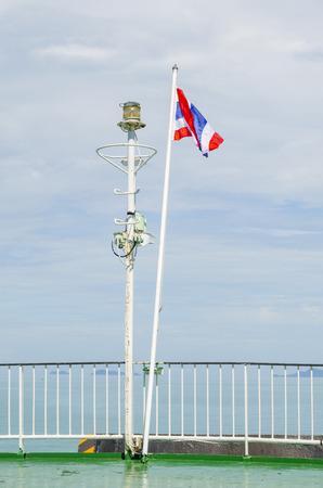 Luxury Yacht mast head equipment photo