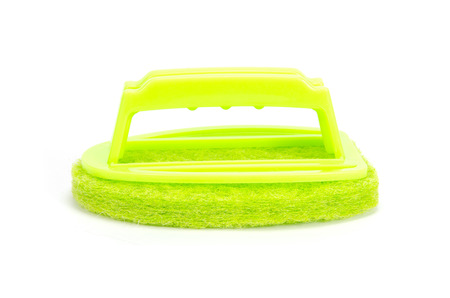 Brush scrubber isolated over white  photo