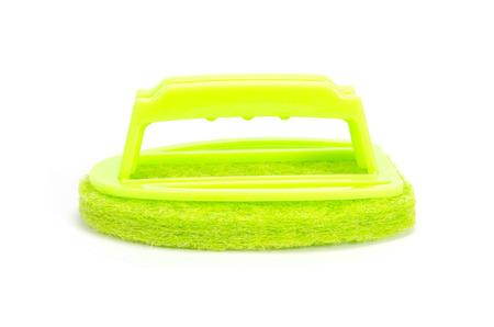 scrubber: Brush scrubber isolated over white
