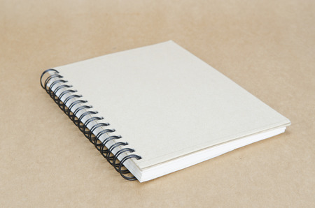 notebook on brown